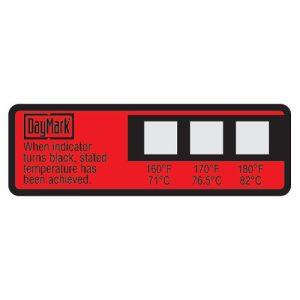 Temperaturpunkt-Etiketten